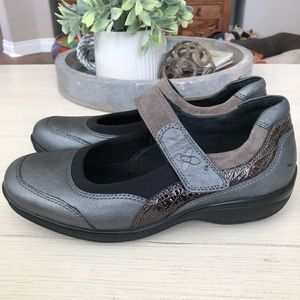 Ziera Janis Pewter Leather Comfort Shoes